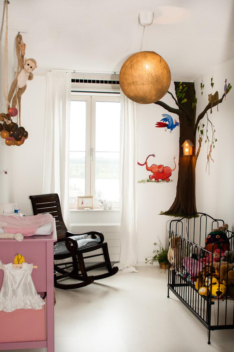 Dieren als thema voor een stijlvolle babykamer en kinderkamer leuk met kids - Babykamer schilderij idee ...