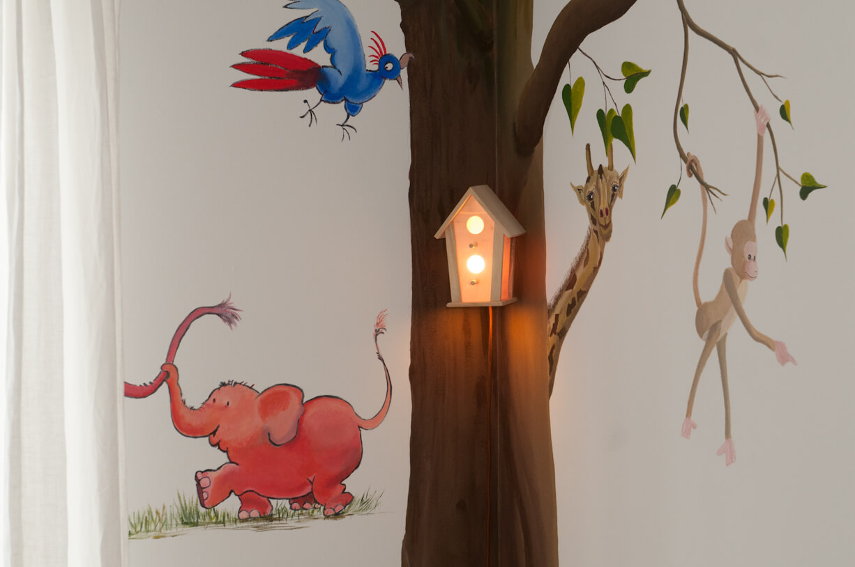 Leuk Behang Kinderkamer.Behang Boom Kinderkamer