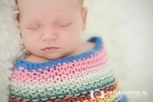 Gebruik een gekleurd dekentje voor een sprankelende foto