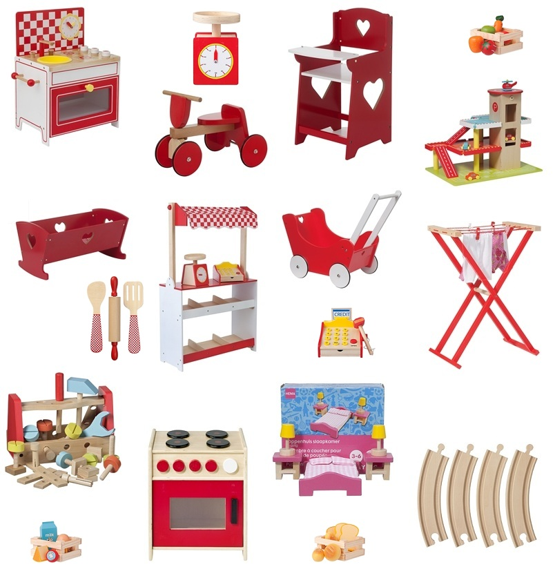 leuk houten speelgoed bij de hema en ikea - leuk met kids
