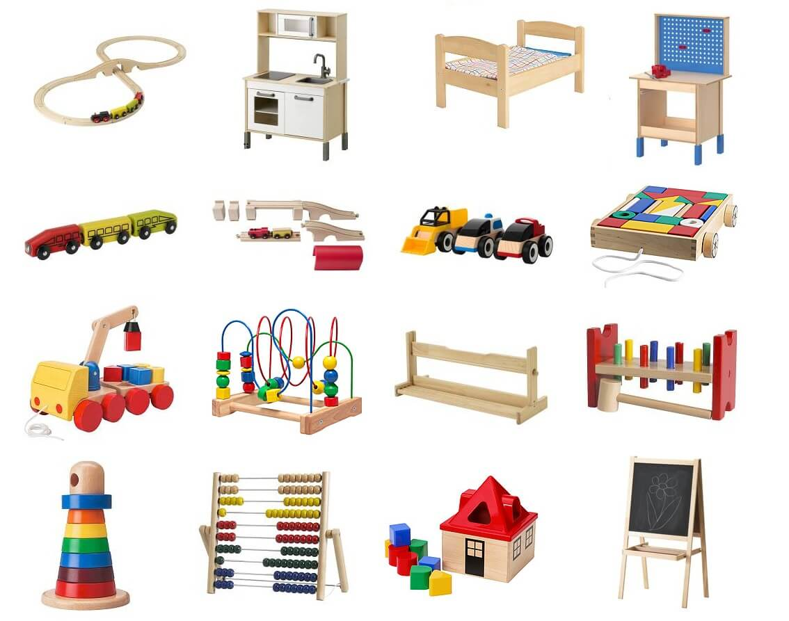 Leuk houten speelgoed bij de Hema en Ikea