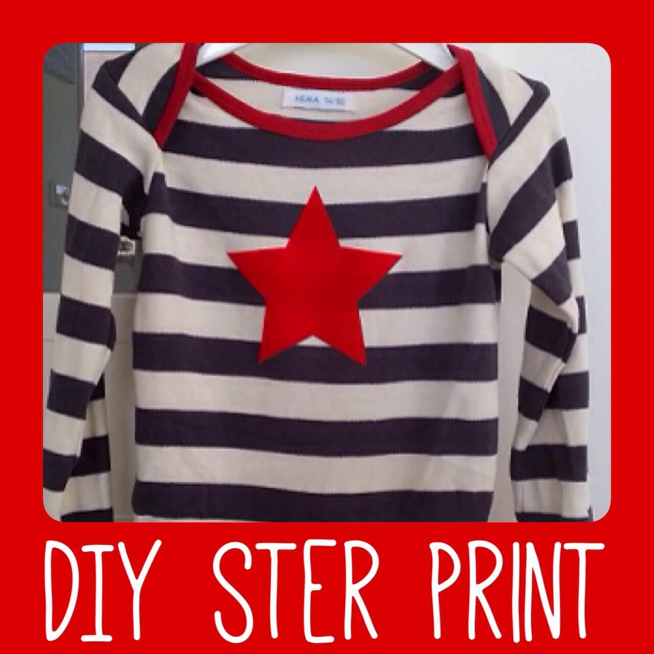 Zelf maken voor kids: een shirt of romper met een (kerst) ster