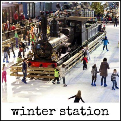 winter station in het spoorwegmuseum