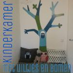 Babykamer en kinderkamer met uiltjes en bomen