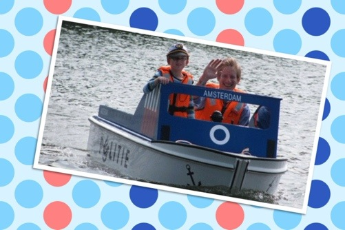 Minibootjes voor kids in het Amsterdamse Bos