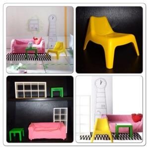 Mini meubeltjes van Ikea voor het moderne poppenhuis