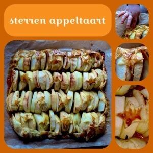 Recept snelle appeltaart met sterren voor kinderen