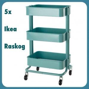 De leukste ideeën met het rolkarretje Ikea Raskog