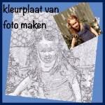 Een kleurplaat maken van een foto