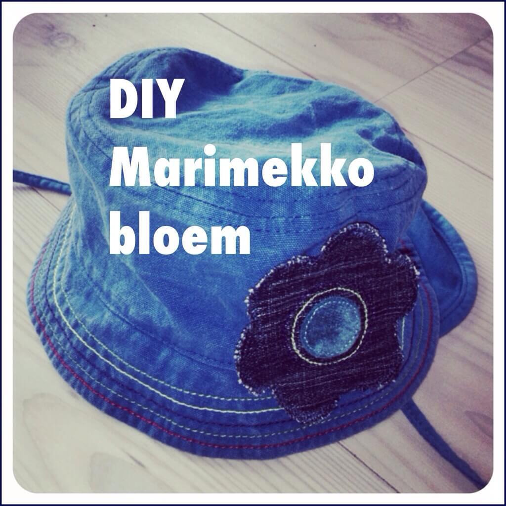 DIY Marimekko bloem applicatie. Van jongenskleding meisjeskleding maken: babykleding en kinderkleding DIY
