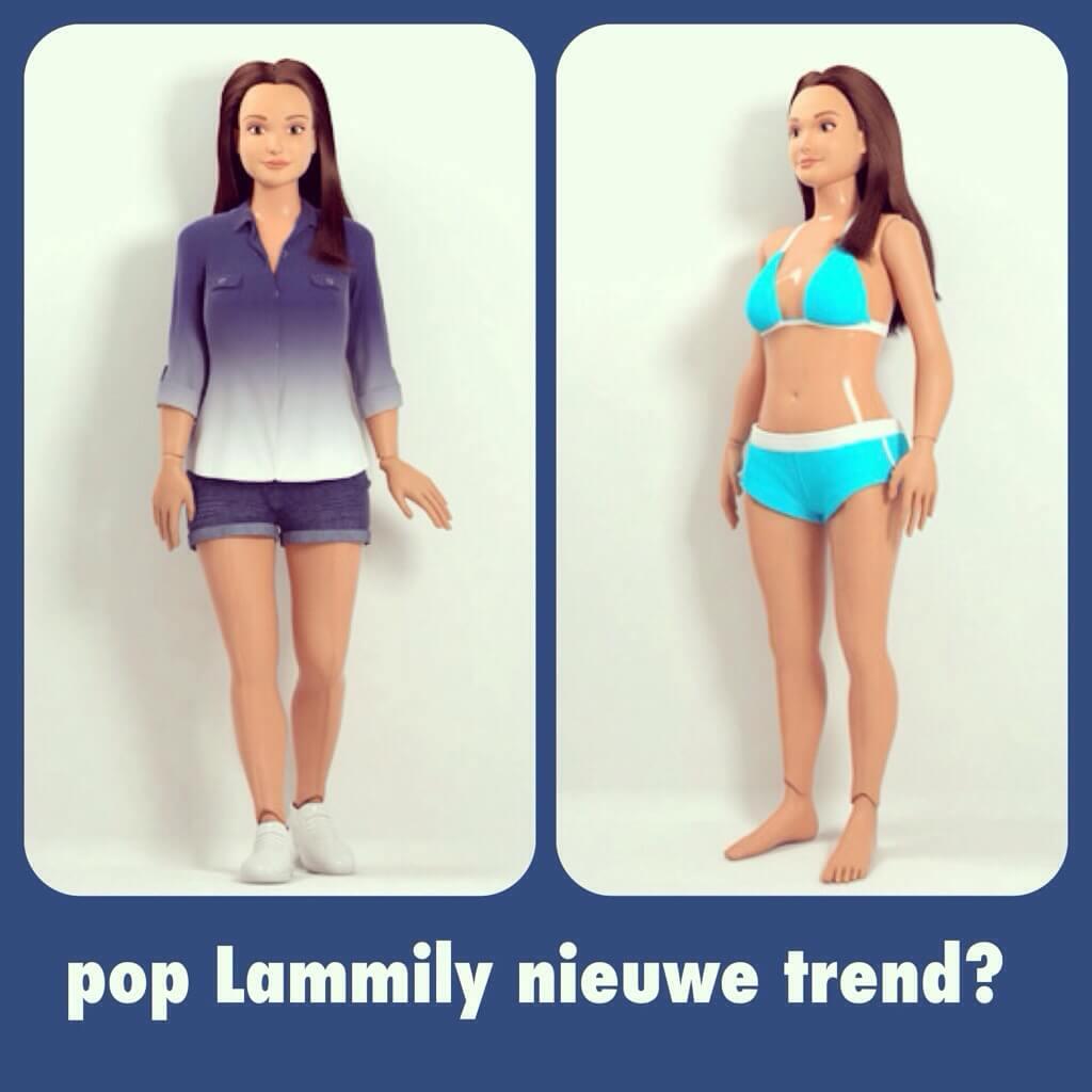 Lammily: Barbie pop met echte maten