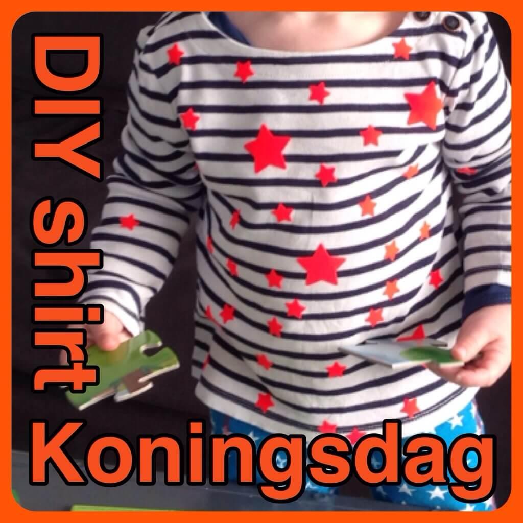 DIY Koningsdag kleding: oranje sterren shirt