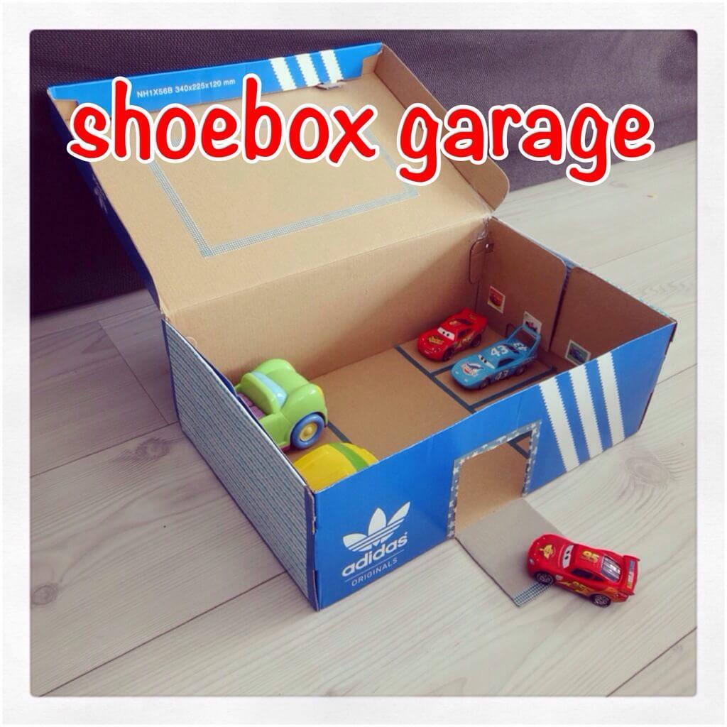 Knutselen: van een schoenendoos een garage maken