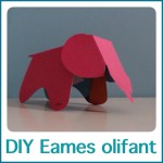 DIY Eames olifant om te knutselen