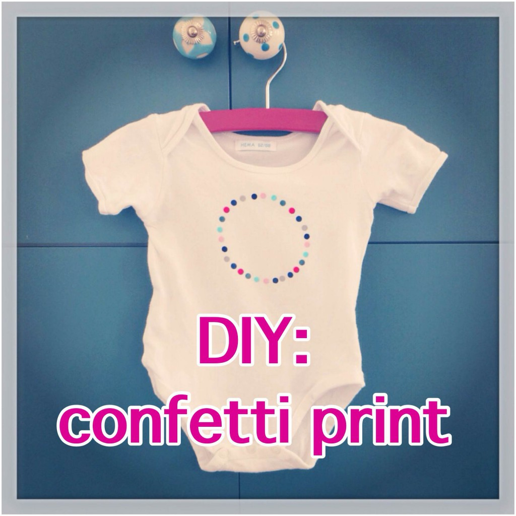 DIY confetti print