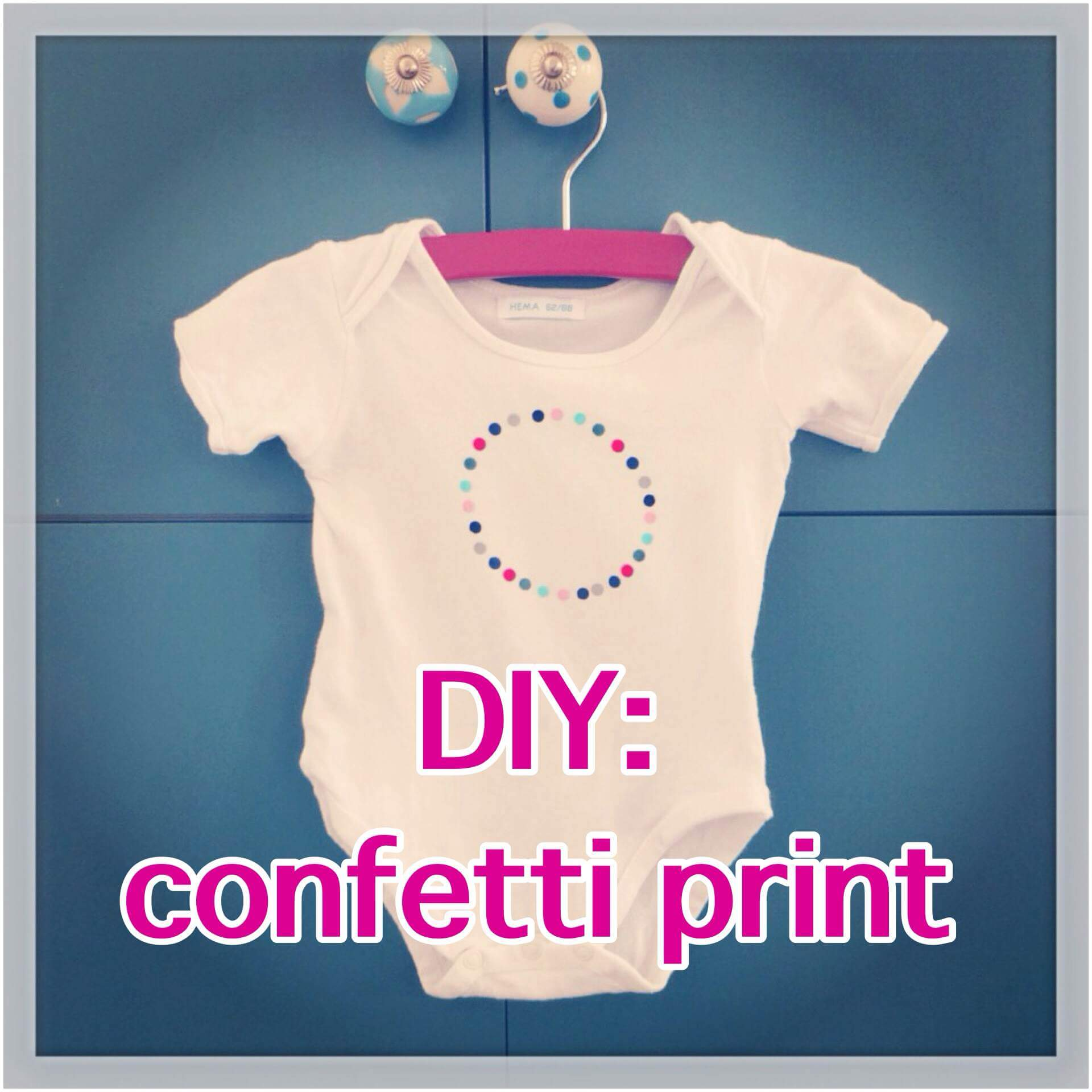 DIY: confetti print op romper of shirt