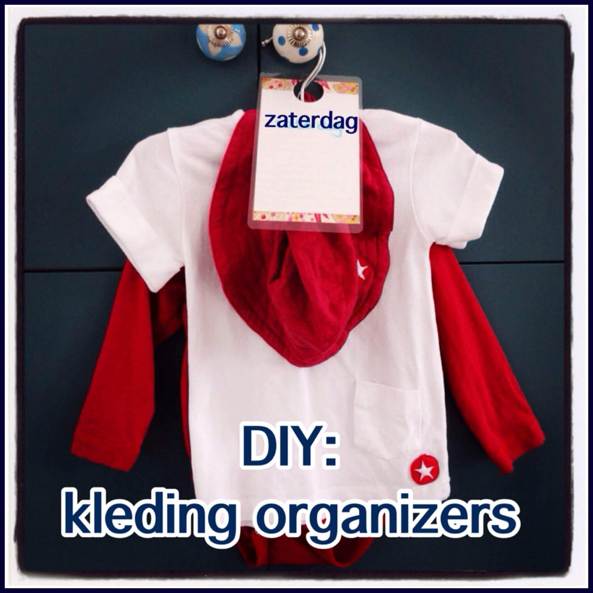 DIY: kleding organizers voor de ochtendspits met kinderen