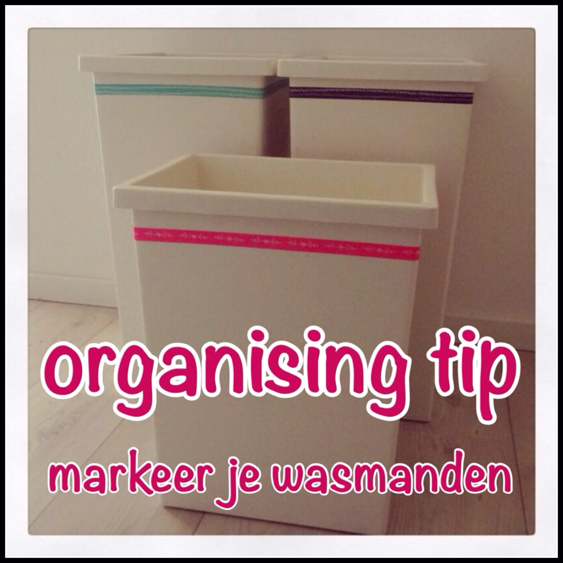 Organising tip: markeer je wasmanden