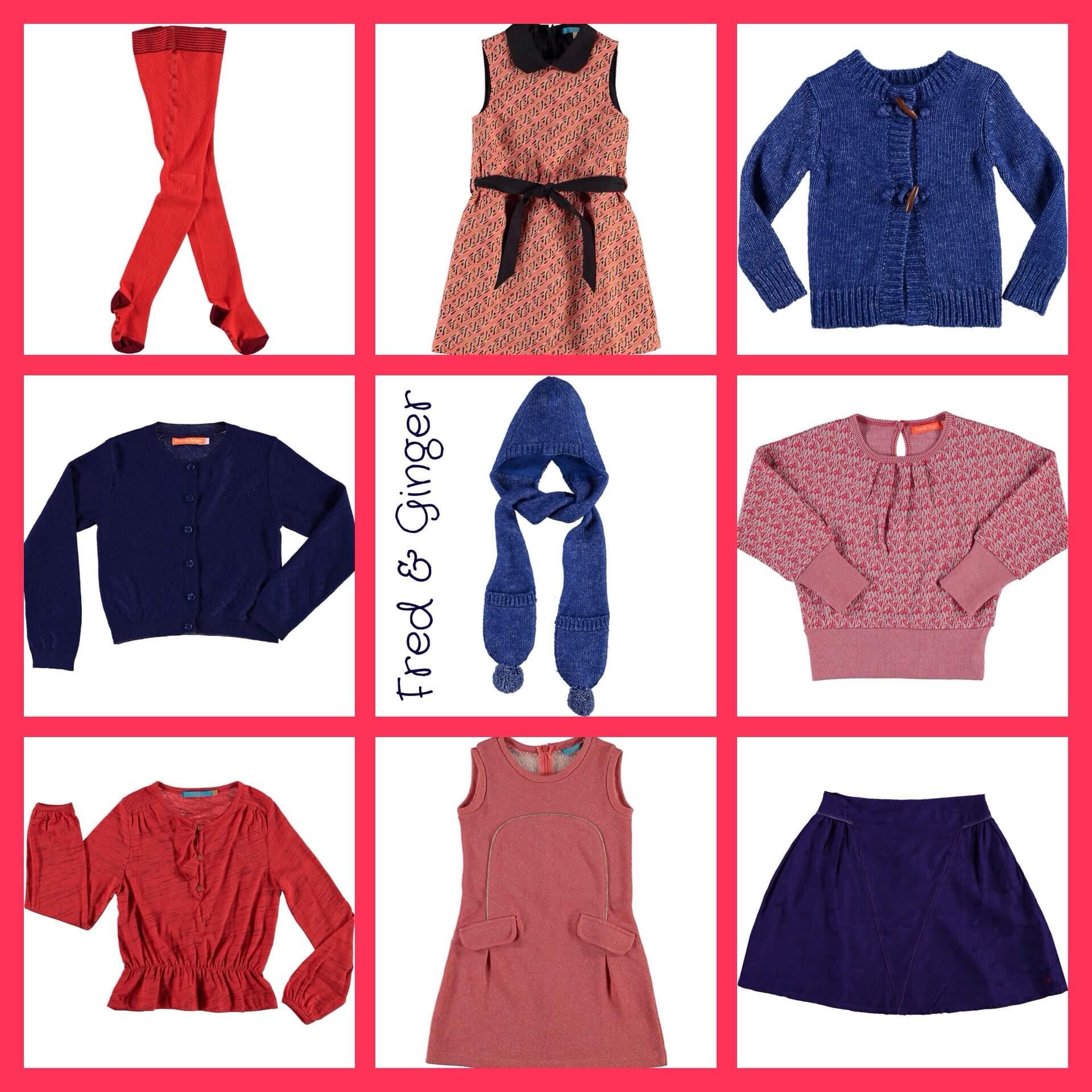 Trend combi: koraal rood, oud roze en marine blauw voor kinderkleding