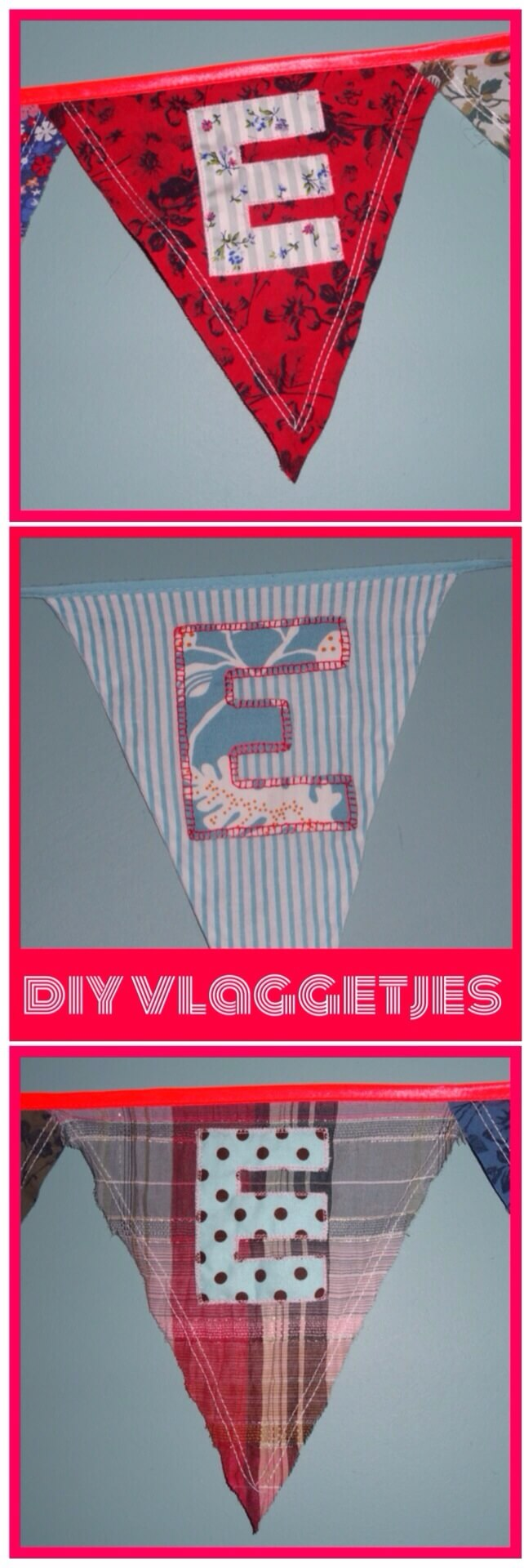 diy name flags children nursery vlaggetjes kinderkamer zelfmaken