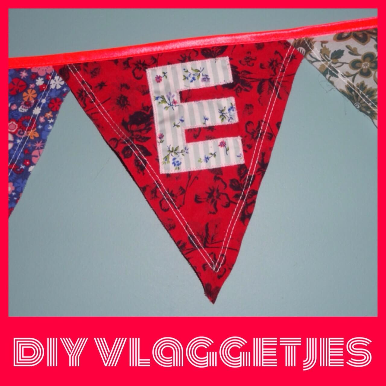DIY naamvlaggetjes voor geboorte en verjaardag