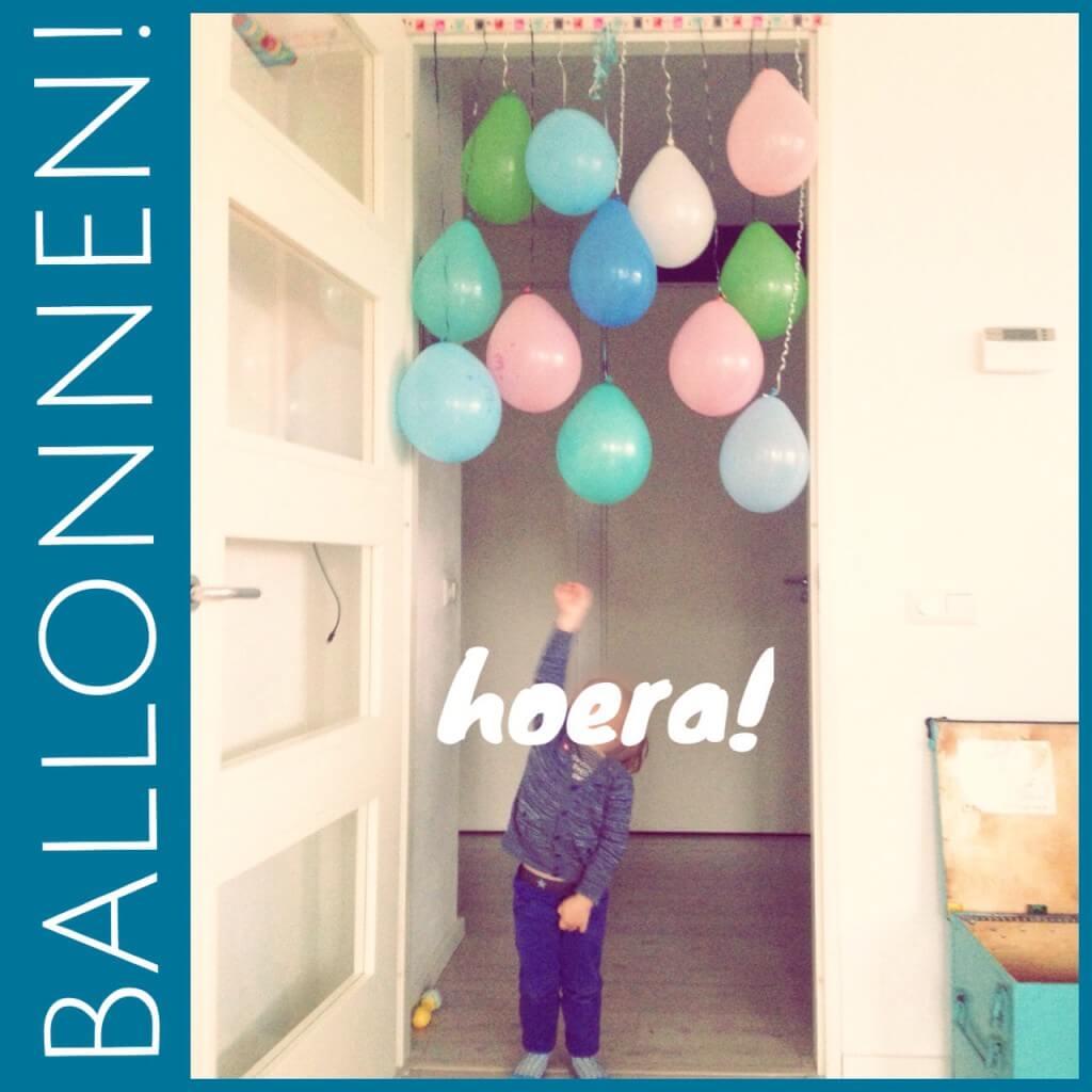 Verjaardagsballonnen om het huis te versieren op je verjaardag #leukmetkids