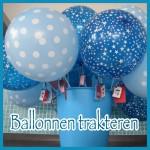 Ballonnen trakteren op de creche