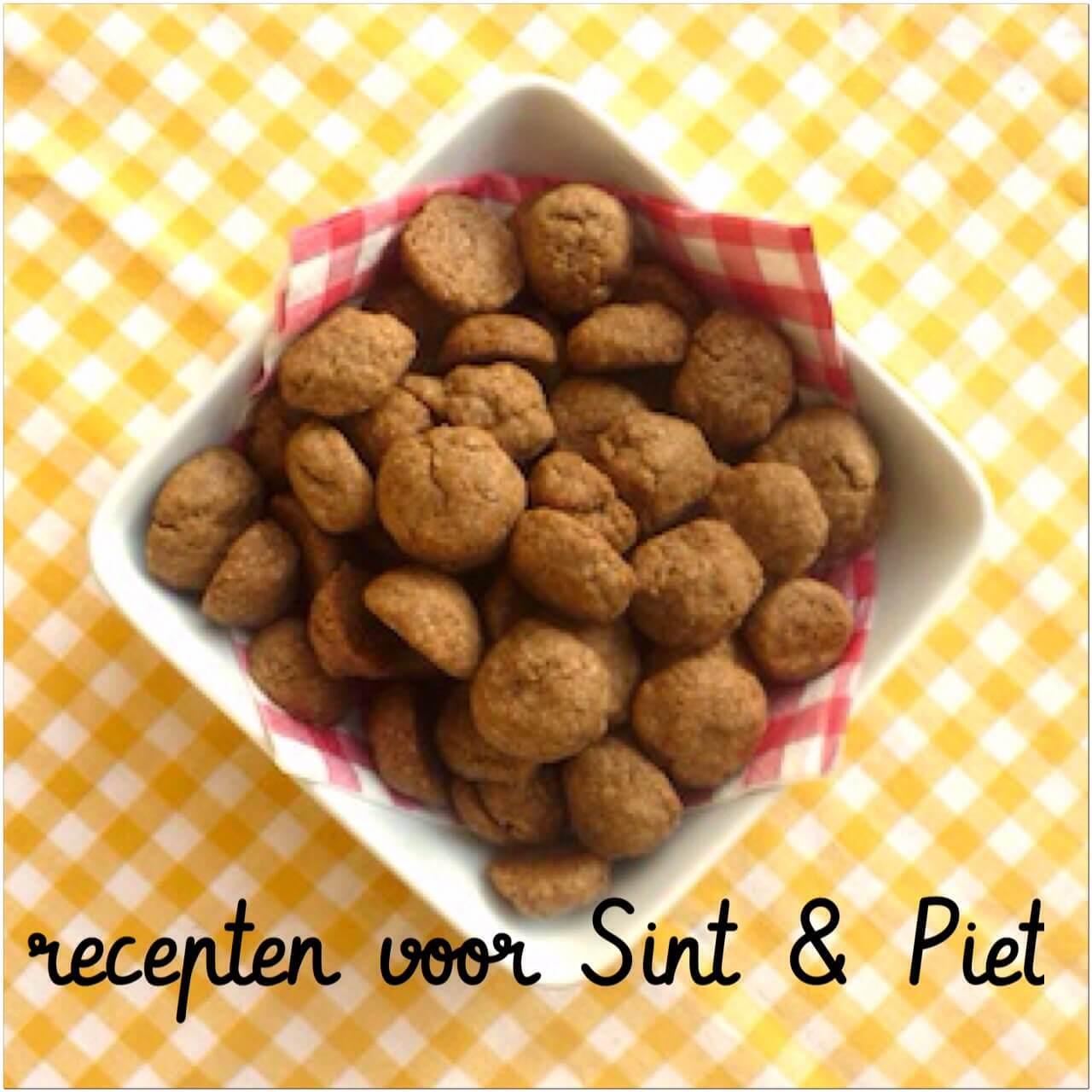 Recept voor Sint & Piet: marsepein en pepernoten