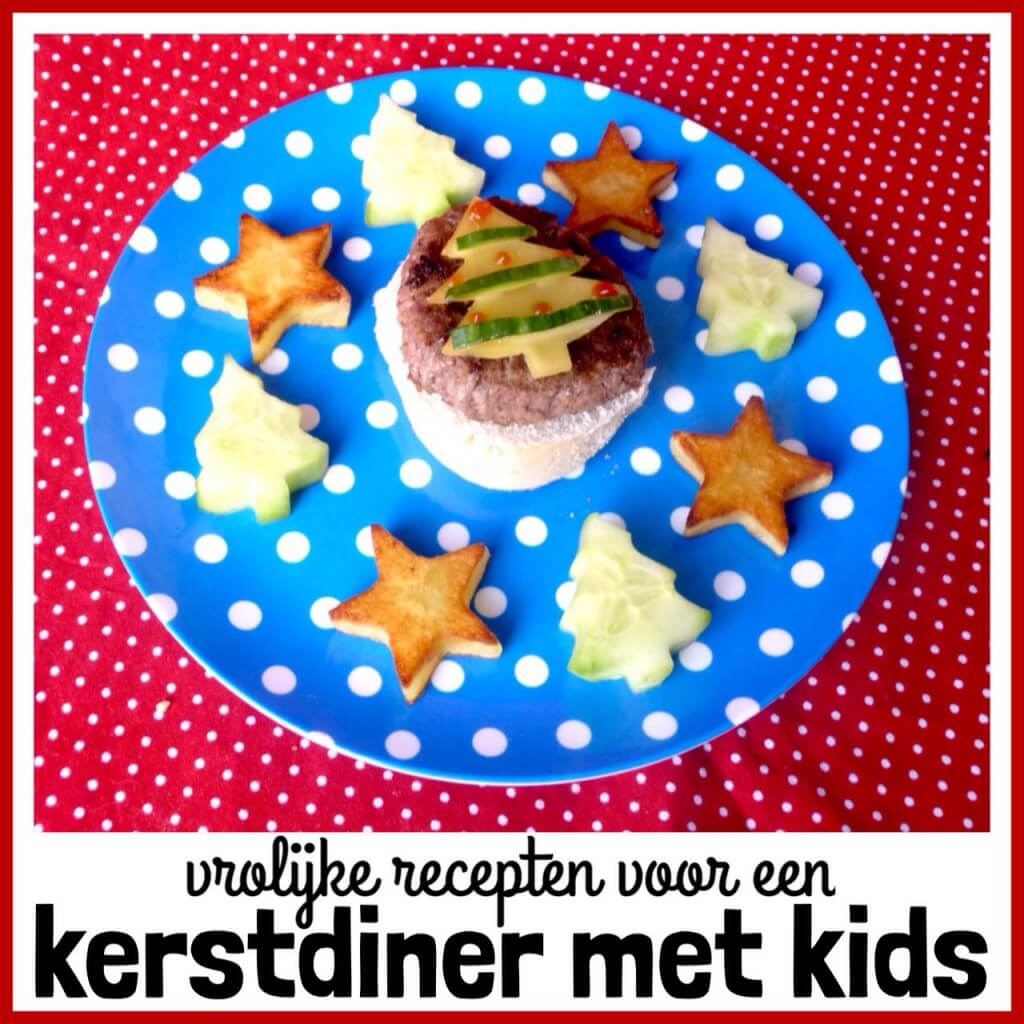 Vrolijk kerstdiner: recepten voor een kerstmenu met kinderen, Hoofdgerecht:Kinderkerstburger met aardappelsterren