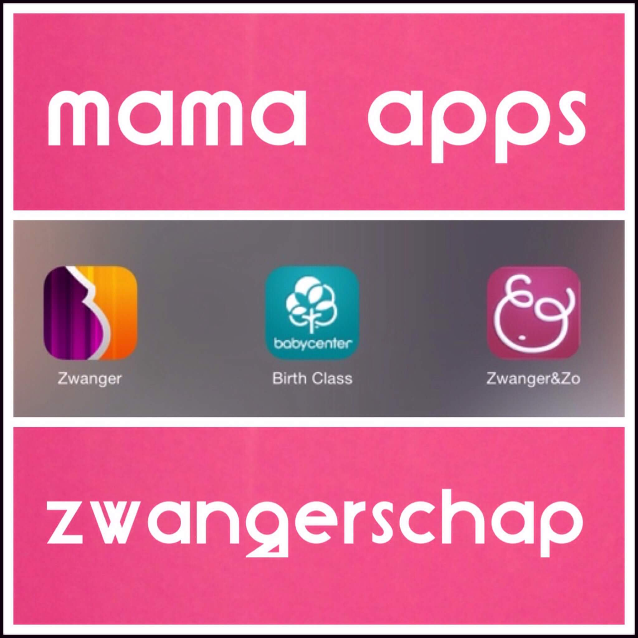 Mama apps op je smartphone: zwangerschap (iPhone, iPad en Android)