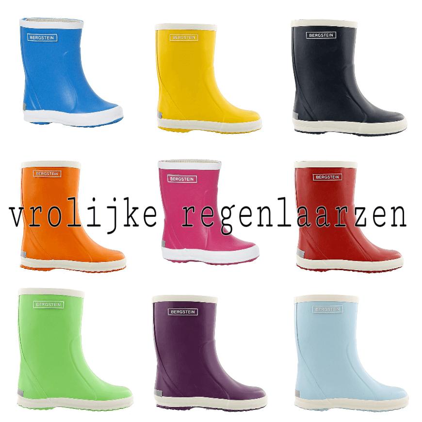 hippe regenjassen en vrolijke laarzen