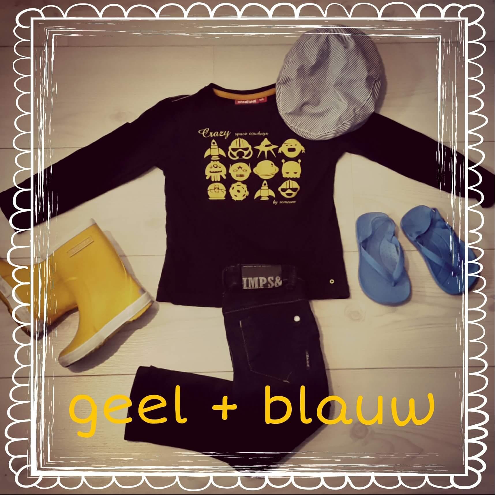 Stoere outfits in blauw + geel voor jongens en meisjes