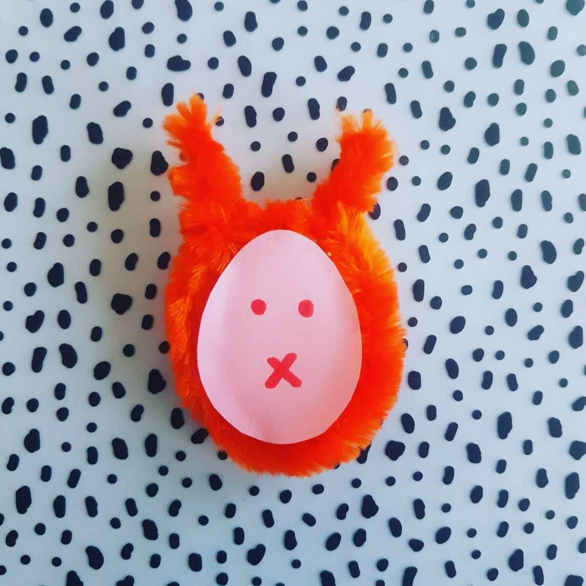 Knutselen voor Pasen: de leukste ideeën, paashaas knutselen met pijpenrager. easter bunny crafting