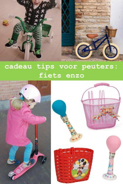 cadeau tips voor peuters: driewieler, fiets, step en accessoires