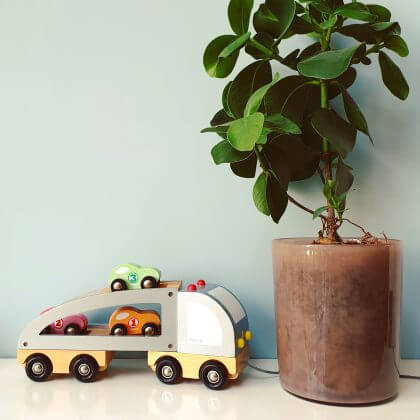 Verjaardagscadeau voor kids: houten vrachtwagen auto van Janod, leuk voor peuters en kleuters