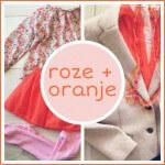 Verrassende kleurencombinatie: roze + oranje voor mama en dochter