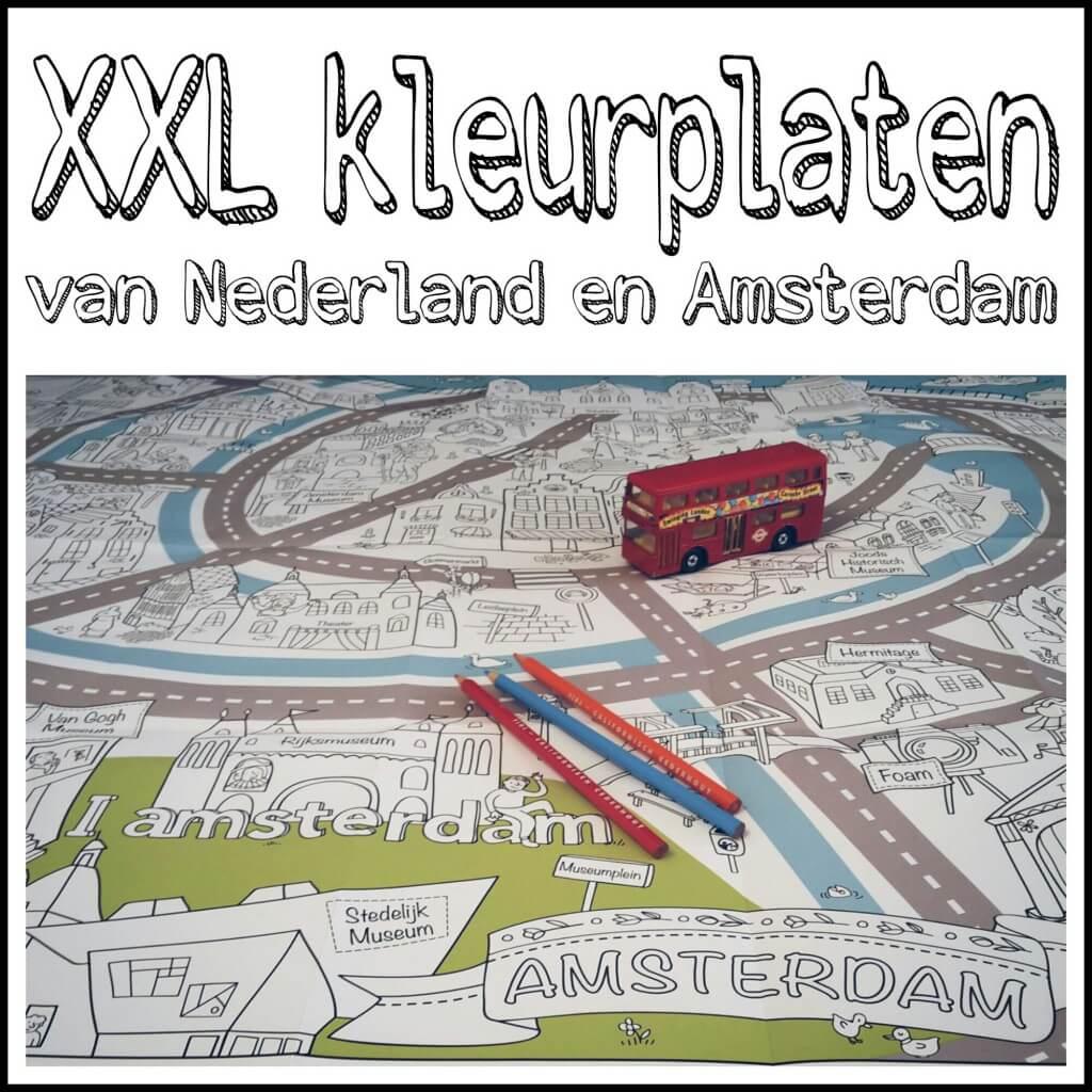 Grote Kleurplaten Auto.Super Grote Kleurplaten Van Nederland En Amsterdam Leuk Met Kids