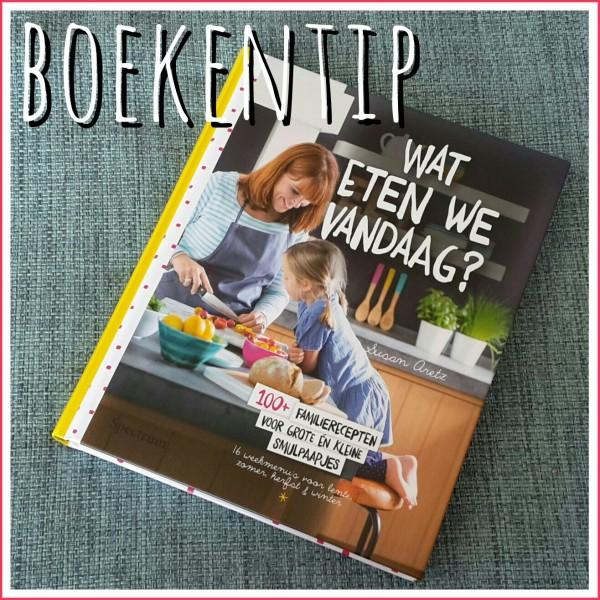 Mijn favoriete kookboek: Wat eten we vandaag? vol met simpele gerechten die het hele gezin lekker vindt.