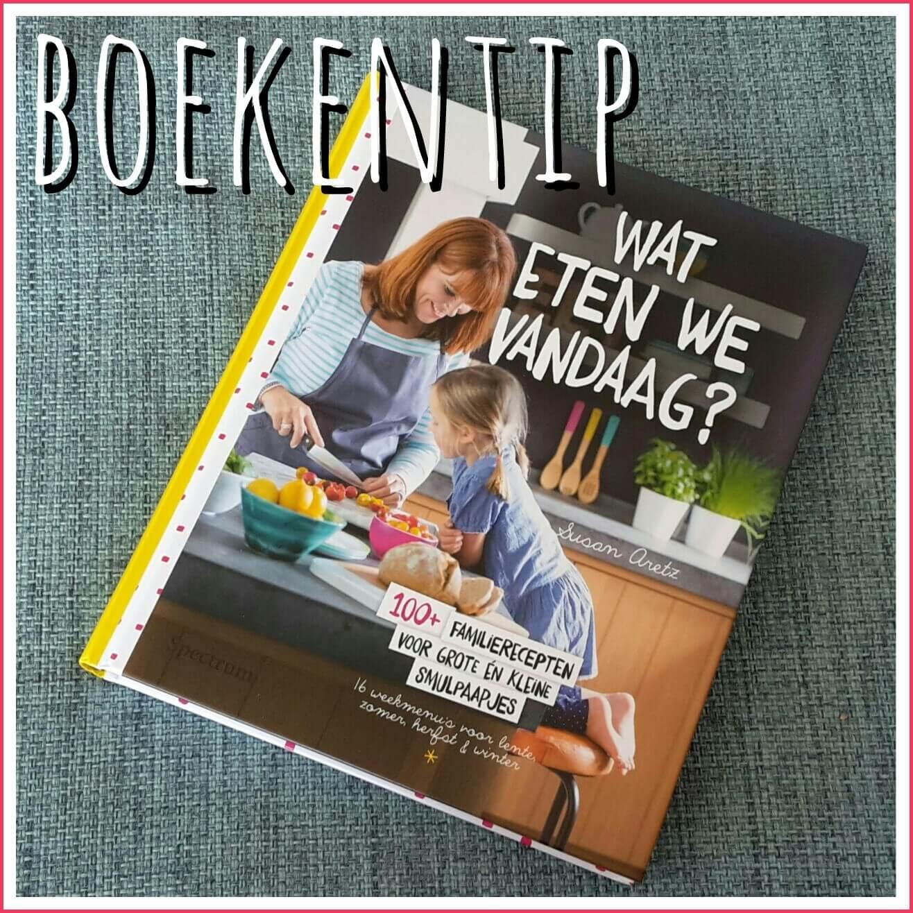 Kookboekentip voor gezinnen: Wat eten we vandaag? van Susan Aretz