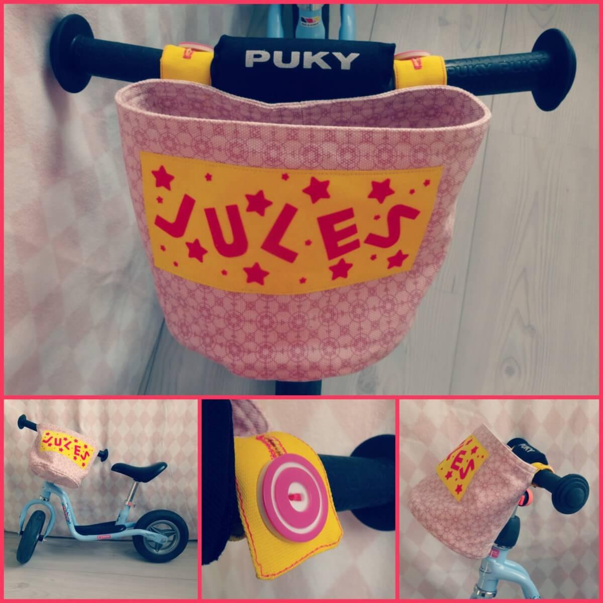 Tutorial een fietsmandje zelfmaken voor loopfiets driewieler of fiets