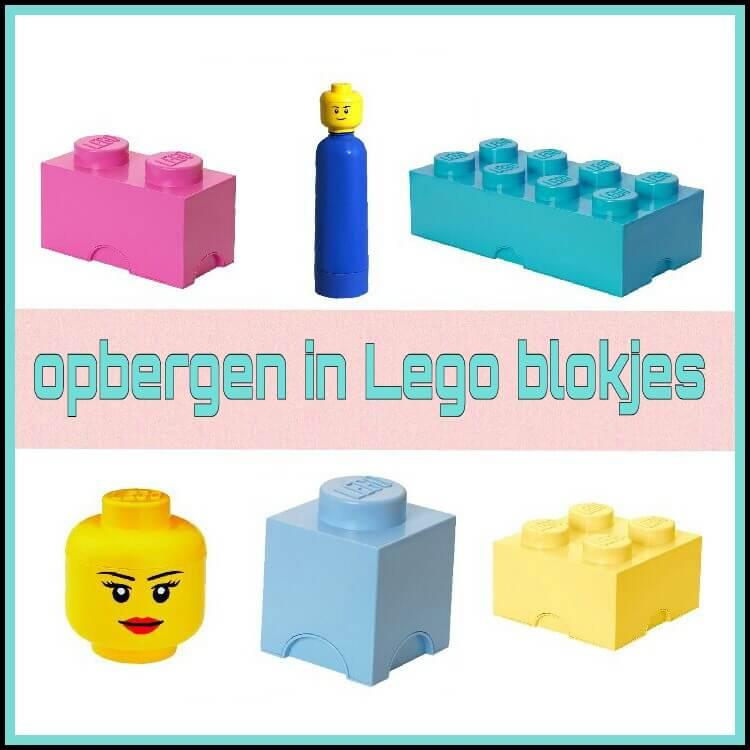 Opbergen in Lego blokjes: van mini doosje en lunchbox tot giga box