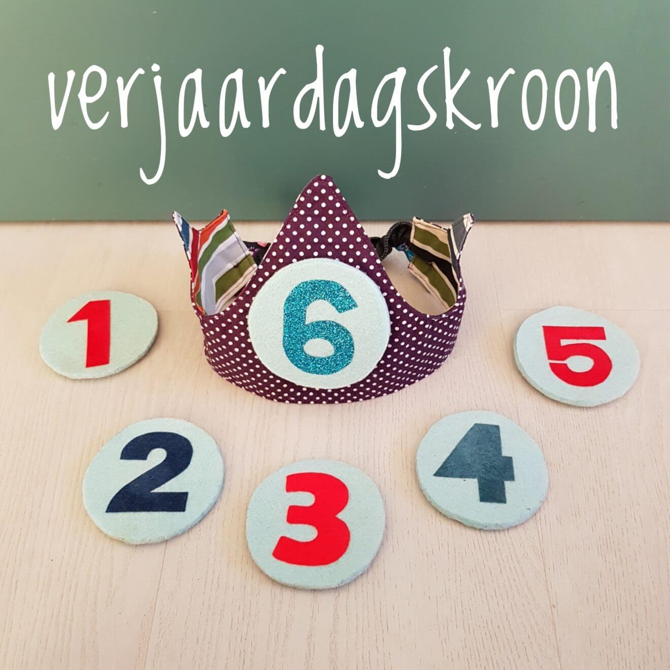 Een zelfgemaakte verjaardagskroon die je elk jaar kunt gebruiken - DIY selfmade fabric birthday crown tutorial kids children