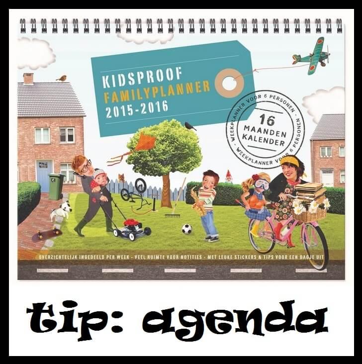 Tip: Kidsproof Familyplanner, voor alle afspraken van het hele gezin