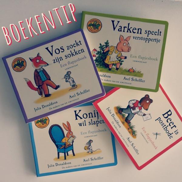 flapjesboeken over de bewoners van het Eikenbos, van de makers van de Gruffalo