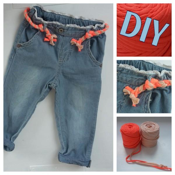 DIY: gevlochten Zpagetti riem voor een meisjesbroek