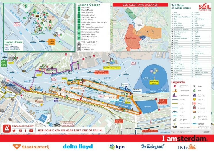 SAIL 2015 met kids - officiele plattegrond Sail