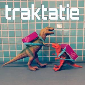 Traktatie voor school: dinosaurus met rozijnen-rugzakje
