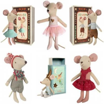 Maileg aangeklede muis