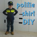 DIY een politie shirt voor de verkleedkist maken