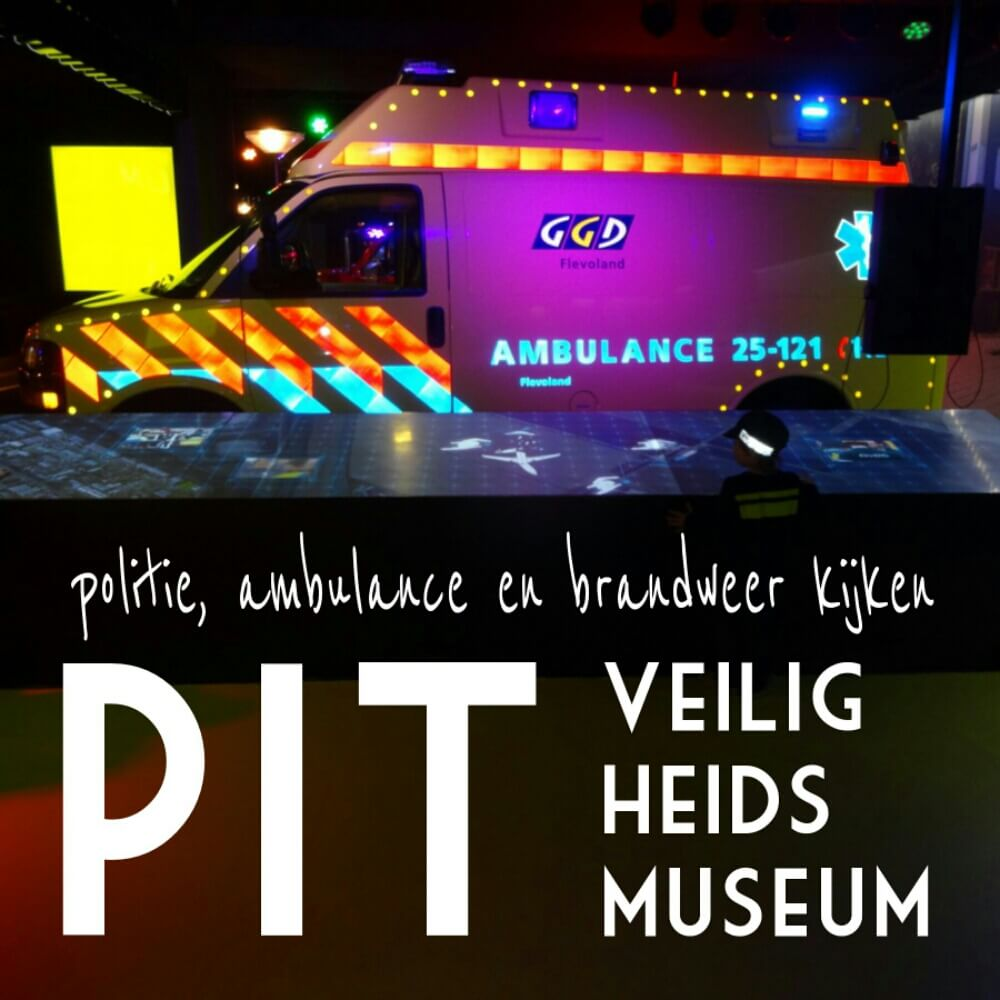 Uitje met de kids: politie, ambulance en brandweer kijken in het PIT Veiligheidsmuseum